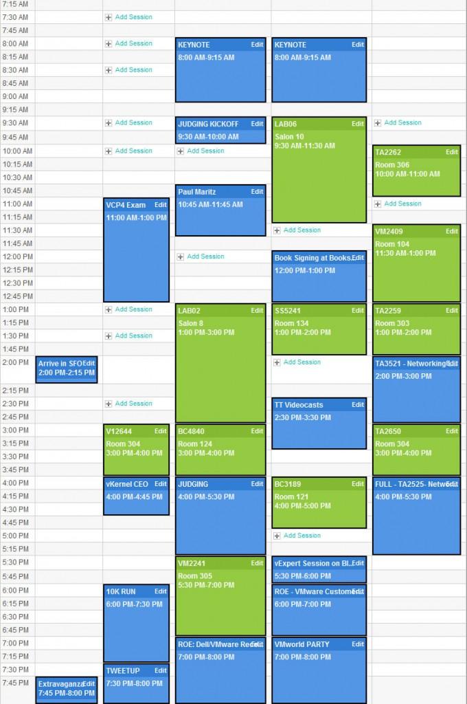 David Davis - VMworld 2009 Schedule